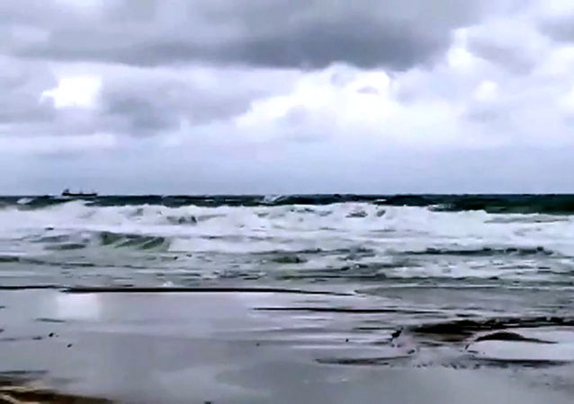 Arvin號乾貨船在土耳其海域(視頻幀)