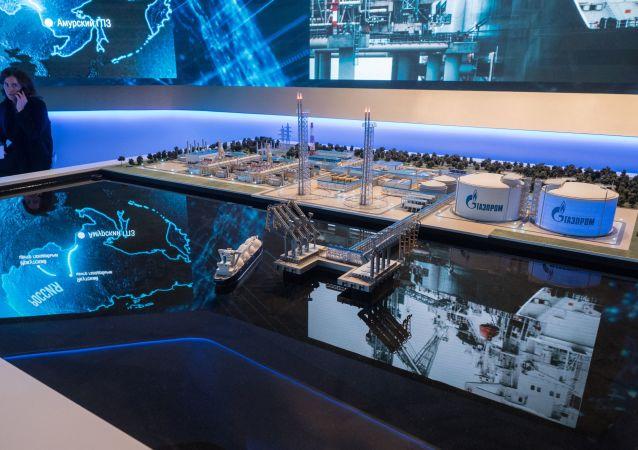 阿穆爾天然氣加工廠的模型