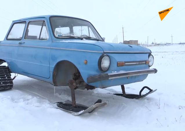 蘇聯汽車改裝的雪地車