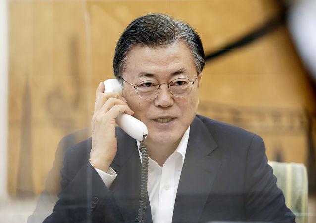 文在寅:韓國政府希望韓朝和朝美能重啓對話與合作