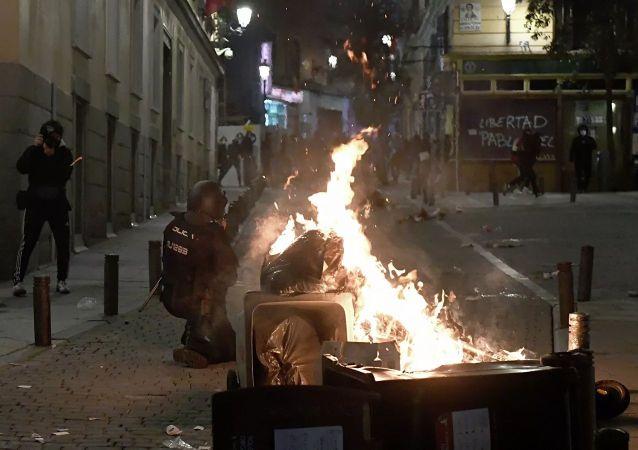 馬德里的抗議活動