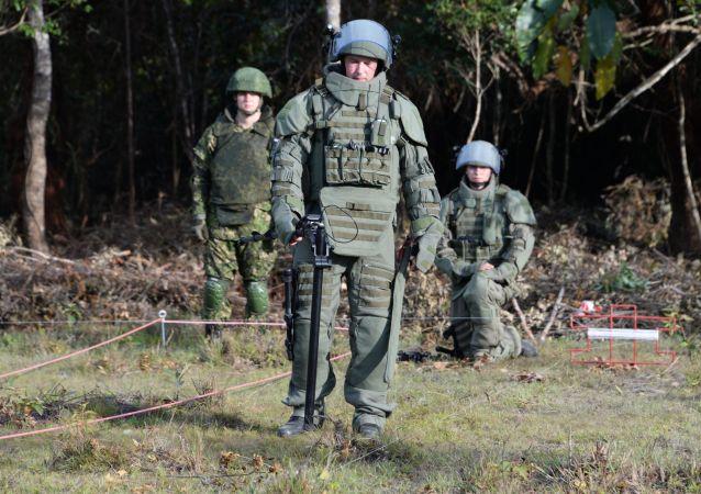 俄羅斯工兵在老撾
