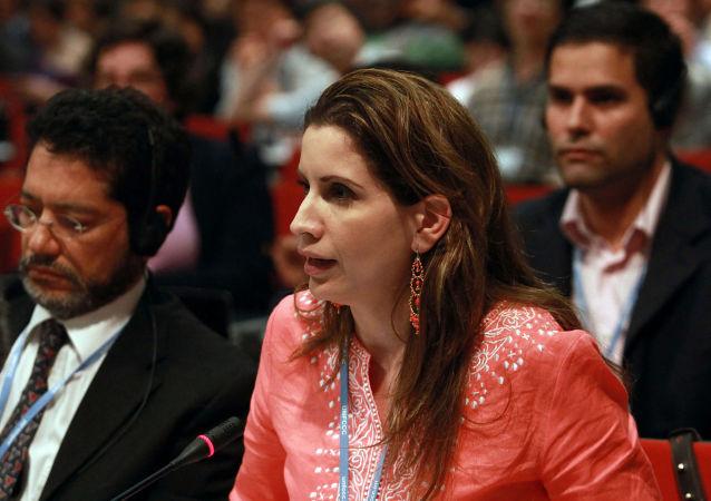 委內瑞拉駐歐盟外交使團團長克勞迪婭•薩萊諾•卡爾德拉