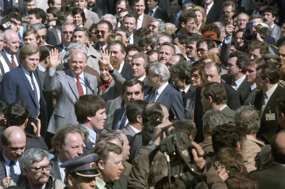1988年,戈爾巴喬夫訪問南斯拉夫社會主義聯邦共和國。