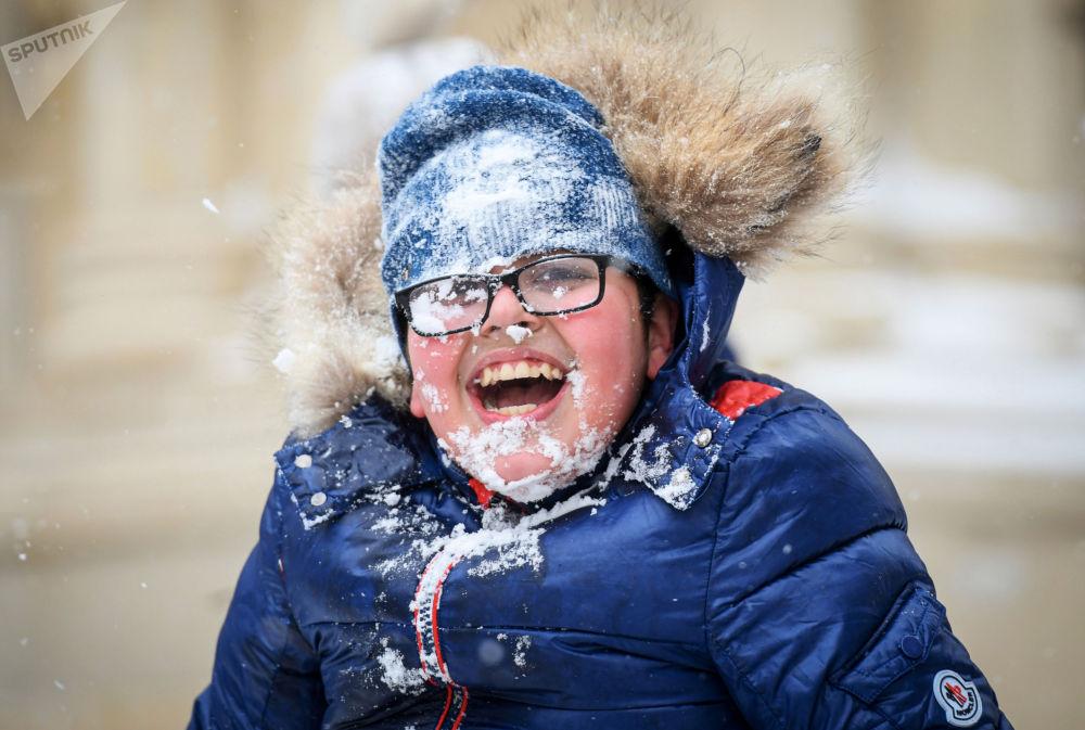 巴庫遇降雪天氣。