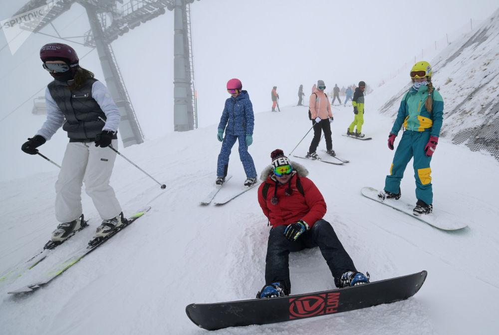 索契市「玫瑰莊園」滑雪度假村。