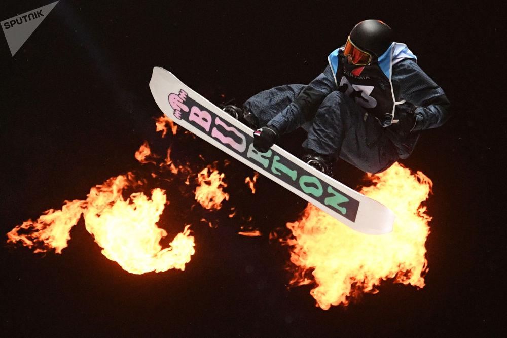 歐洲杯單板滑雪大跳台項目比賽。