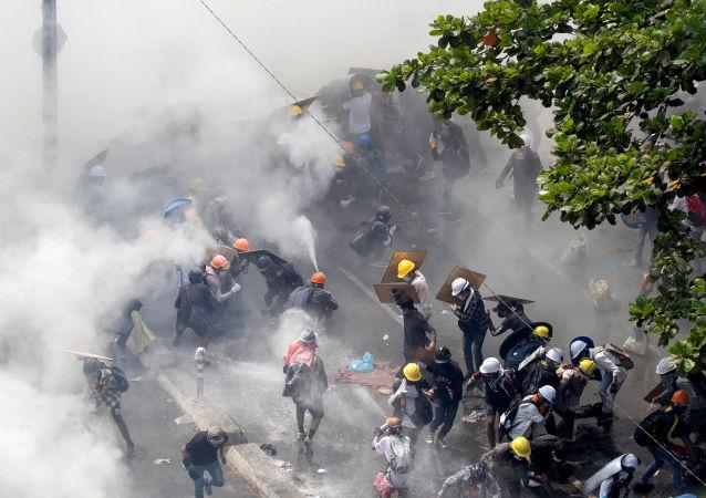 緬甸抗議行動