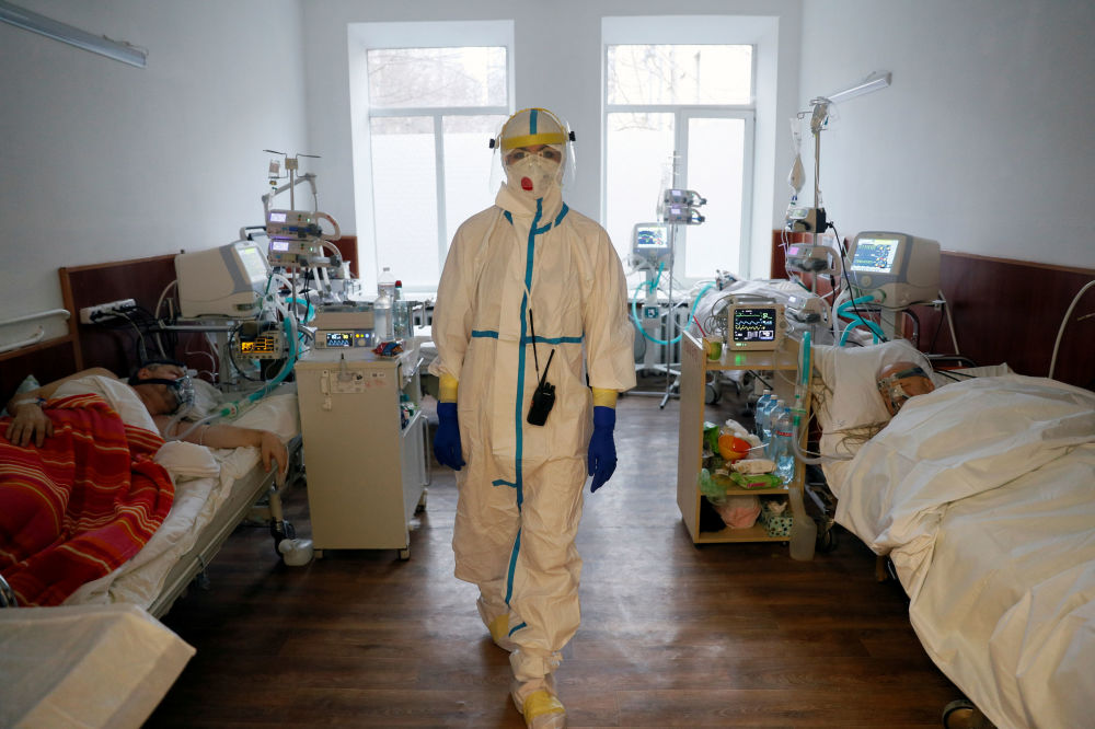 烏克蘭基輔市醫院女醫師。