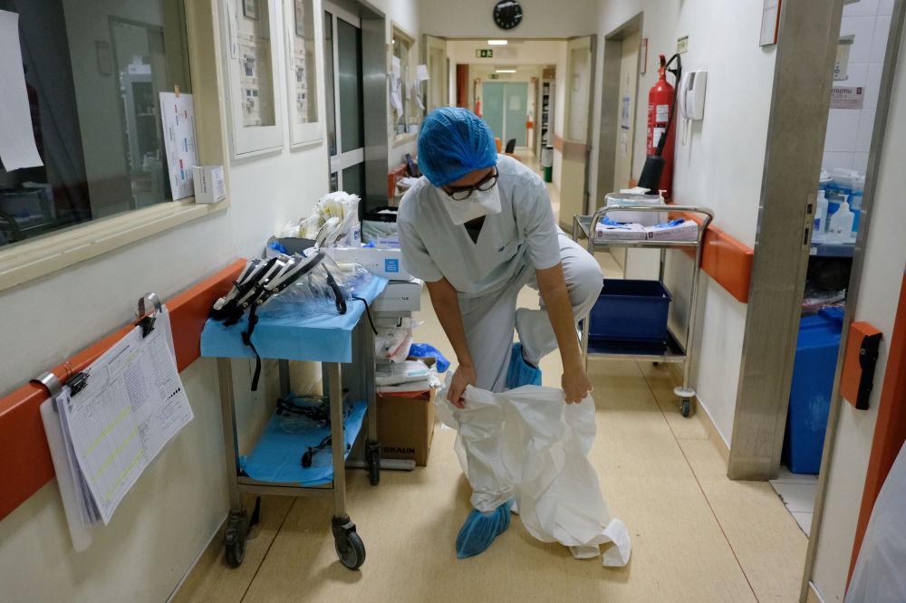 葡萄牙里斯本醫院女護士。