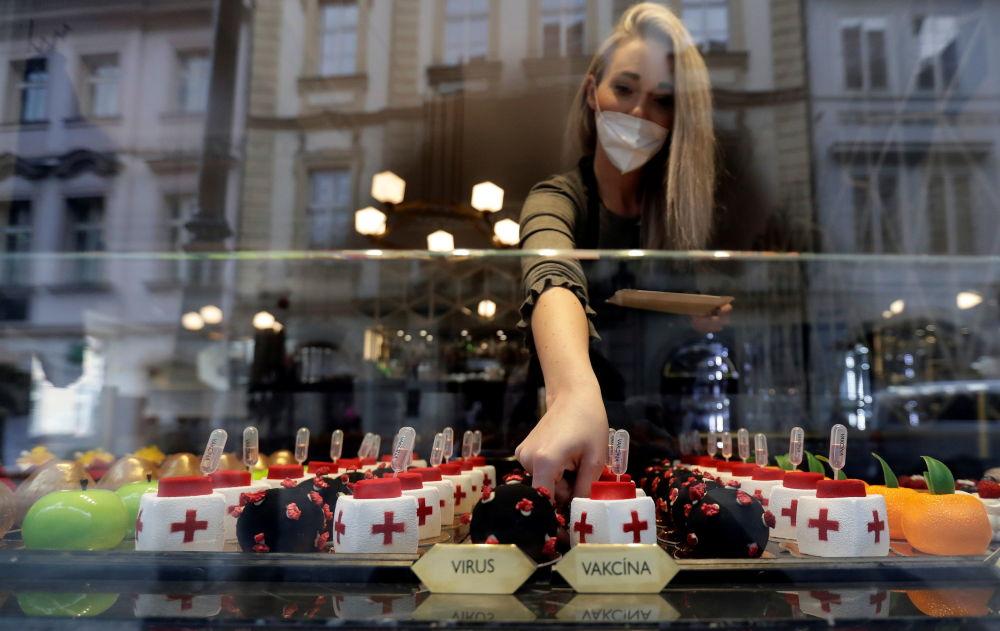 你可以在捷克首都最古老的咖啡館——「黑色麥當娜」里品嘗這種不尋常的甜點。