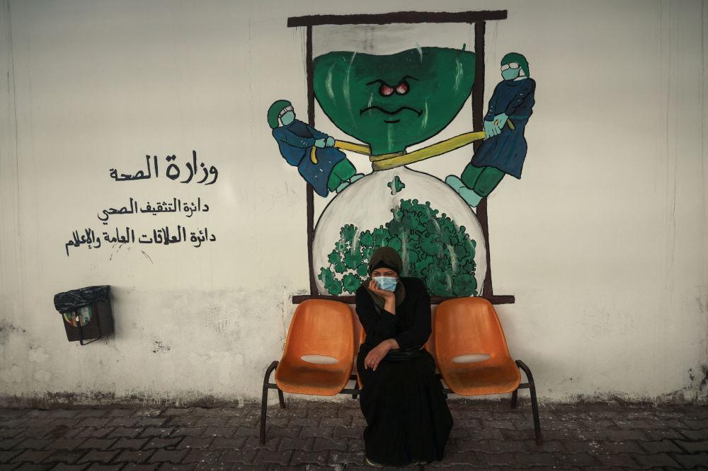 加沙市的塗鴉。