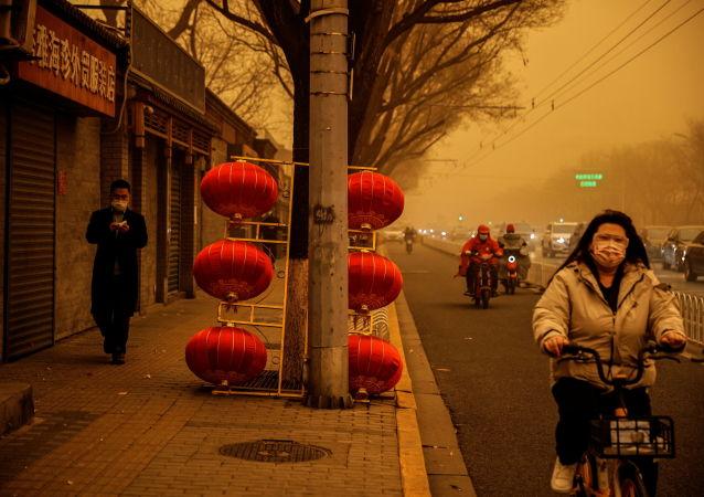 北京再遭沙塵暴侵襲
