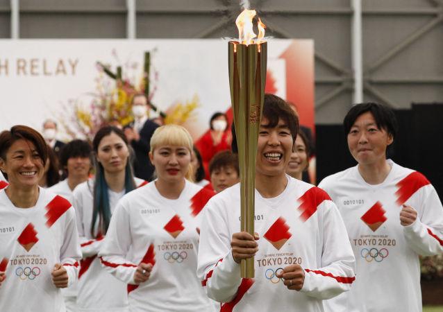 東京奧運會聖火傳遞