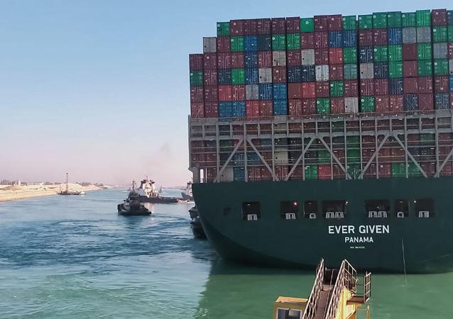 消息人士:「長賜」號貨輪將在接受檢查後確定是否繼續通過蘇伊士運河