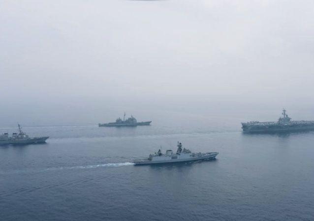 美印在東印度洋舉行海上聯合軍演 專家:主要想展示給中國看