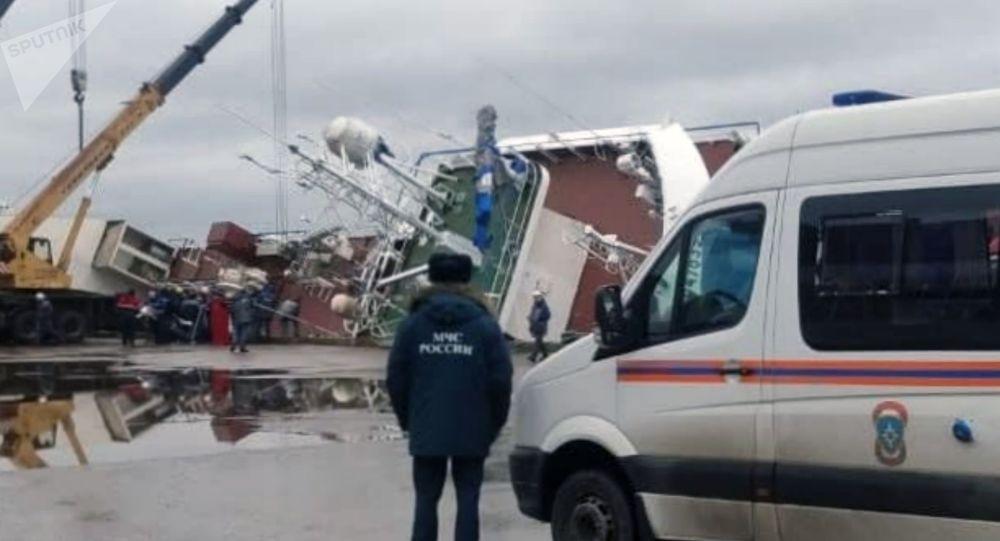 俄機構:列寧格勒州造船廠船隻側翻事故搜救工作已經結束