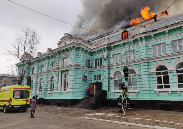 俄布拉戈維申斯克心臟外科中心發生火災
