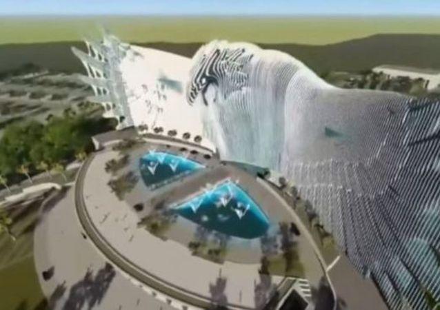 印尼新首都巨鷹雕塑建築設計