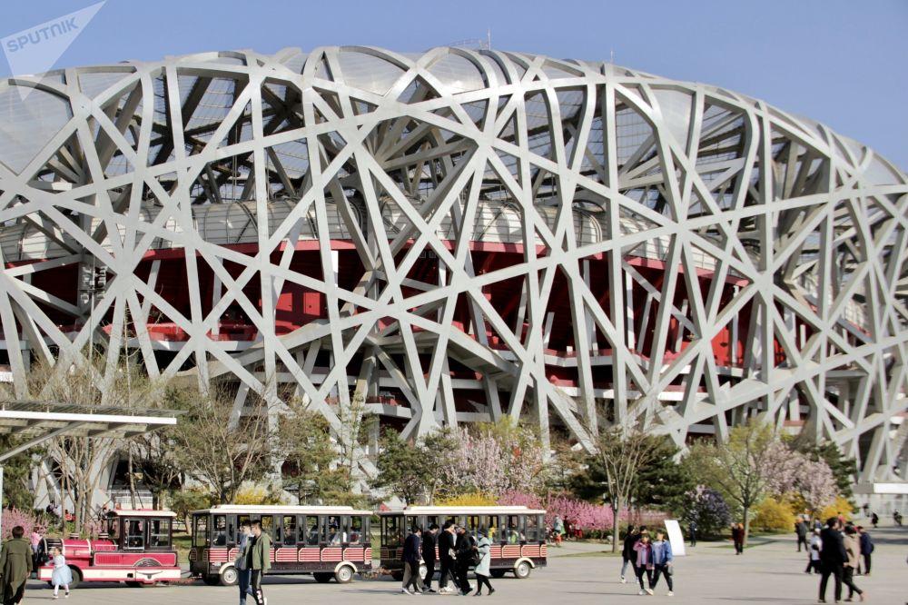 北京,國家體育場(鳥巢)。