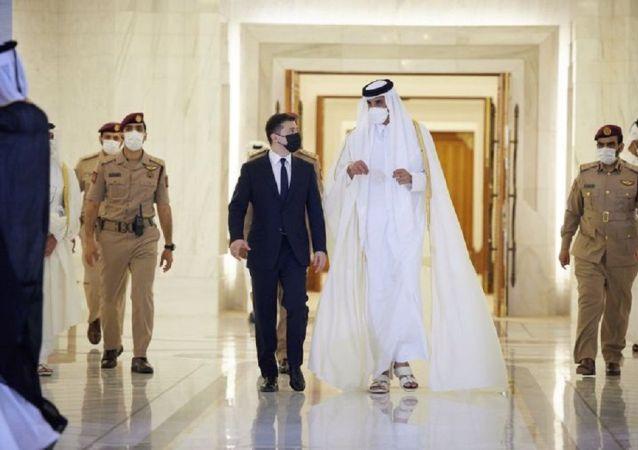 澤連斯基代表團訪問卡塔爾時嚴重違反禮節