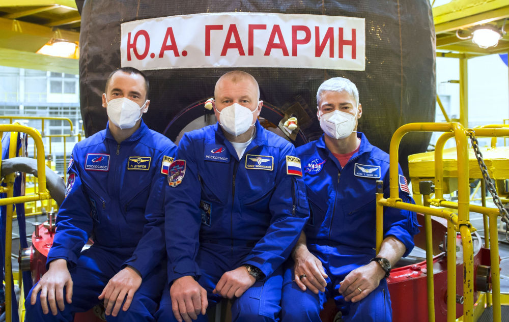 國際空間站第65乘組人員在拜科努爾進行考試訓練