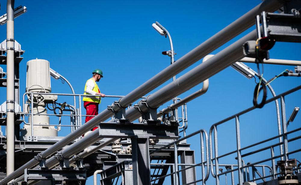 正在施工建設中的德國「北溪-2」天然氣管道項目