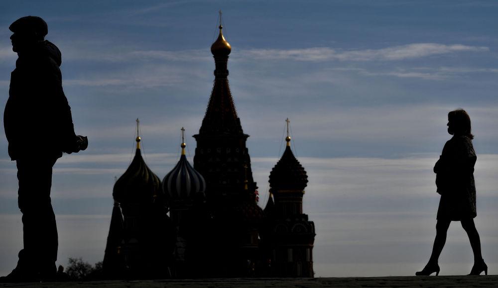 莫斯科紅場上的遊人