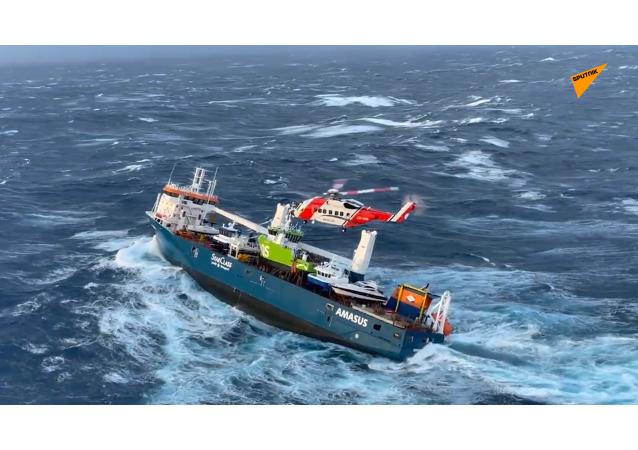 荷蘭油輪在挪威海岸附近發出求救信號