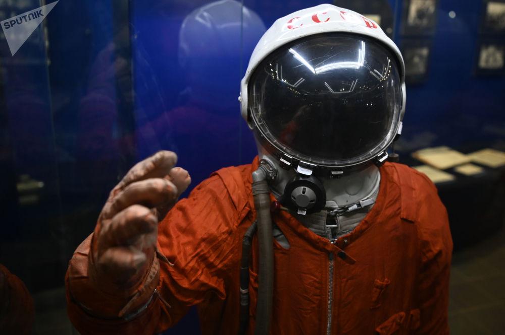 加加林市首飛太空博物館展出的SK-1宇航服。