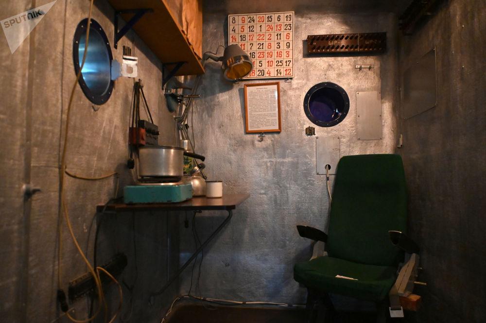 加加林市首飛太空博物館展出的SBK48隔音氣壓艙。
