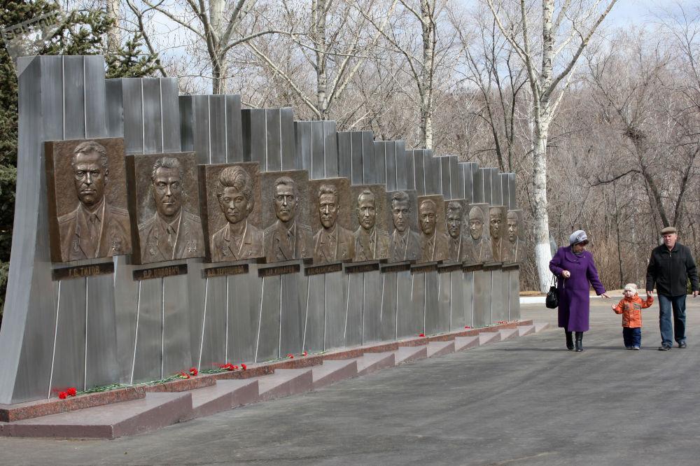 薩拉托夫州捷爾諾夫卡鎮「加加林返回著陸點」紀念景點。