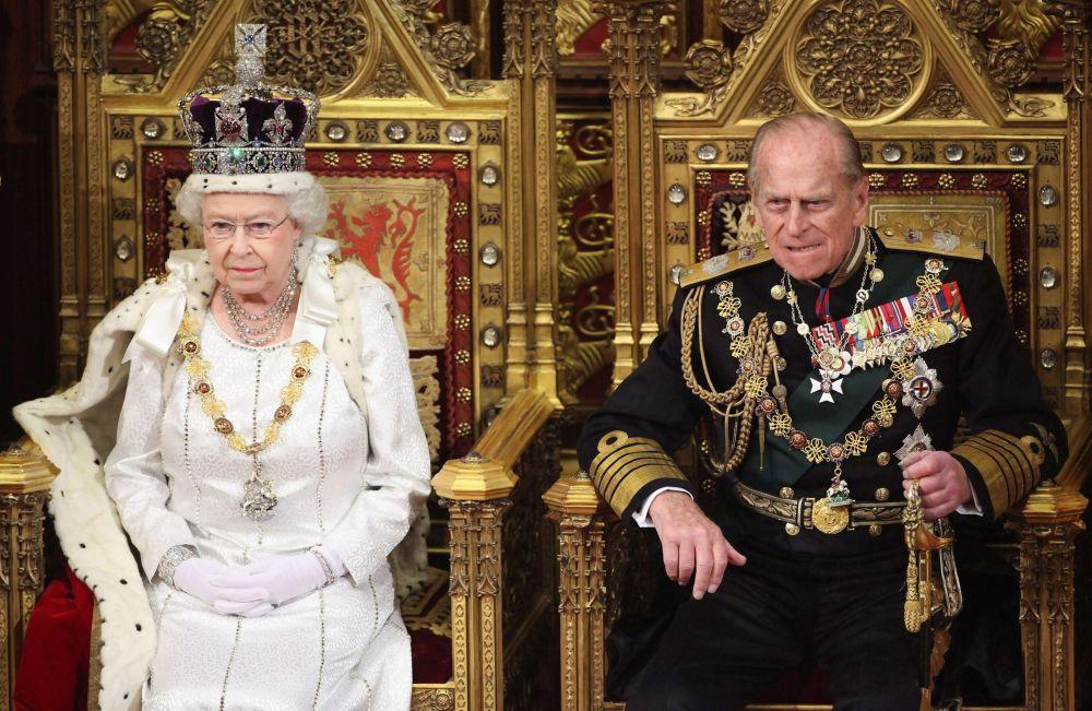 英國女王伊麗莎白二世與菲利普親王。