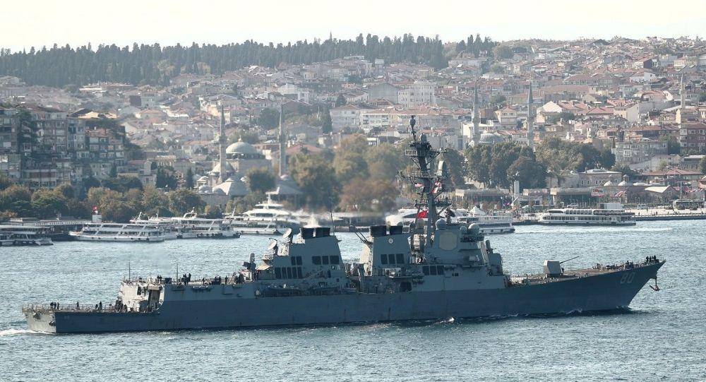 在黑海的美國軍艦