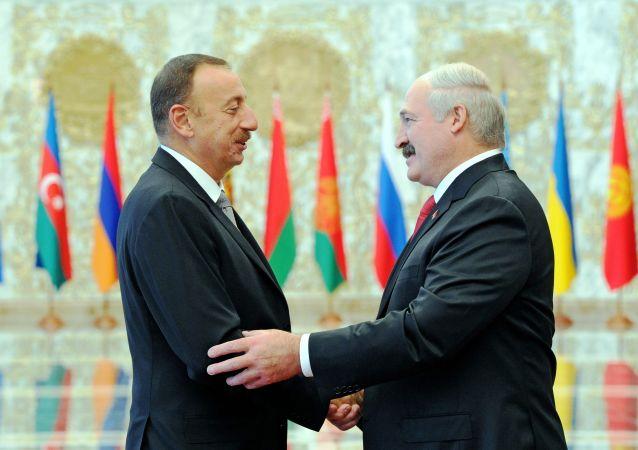 盧卡申科與阿利耶夫