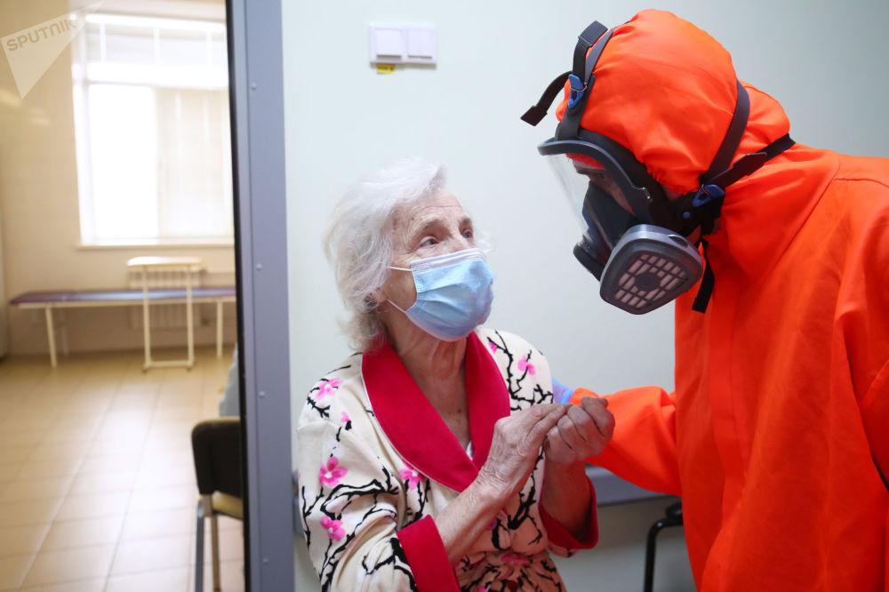 伏爾加格勒市第7醫院救治新冠肺炎患者。