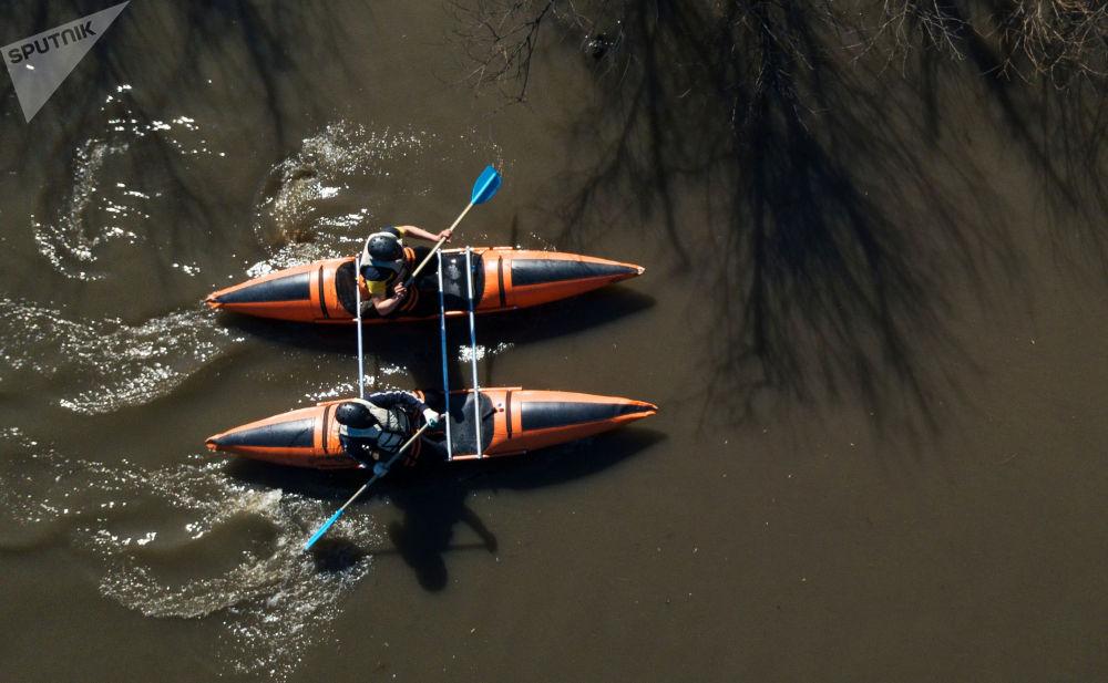 新西伯利亞州「紀念沙巴林-2021」皮划艇冠軍賽。