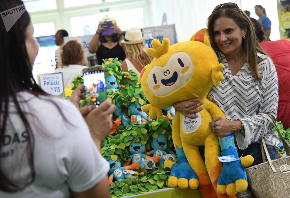2016年巴西里約熱內盧奧運會產品商店。