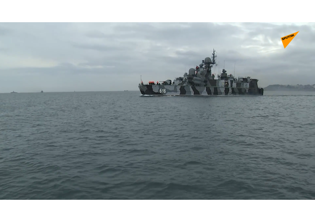 黑海艦隊的一支艦艇支隊出海開展實戰演練