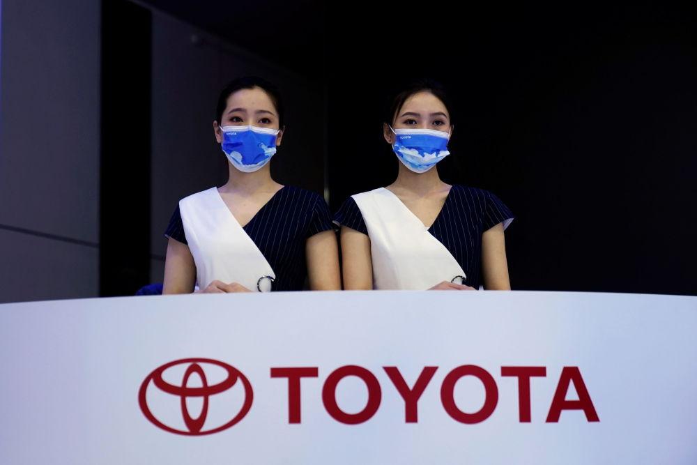 上海國際車展上的豐田展台。