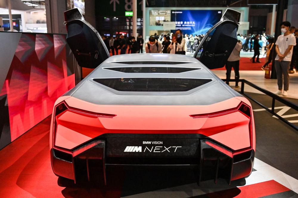 上海國際車展上的BMW Vision Next概念車。