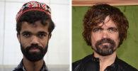 巴基斯坦服務員羅西•汗(左)和美國演員彼特•丁克拉奇(右)。