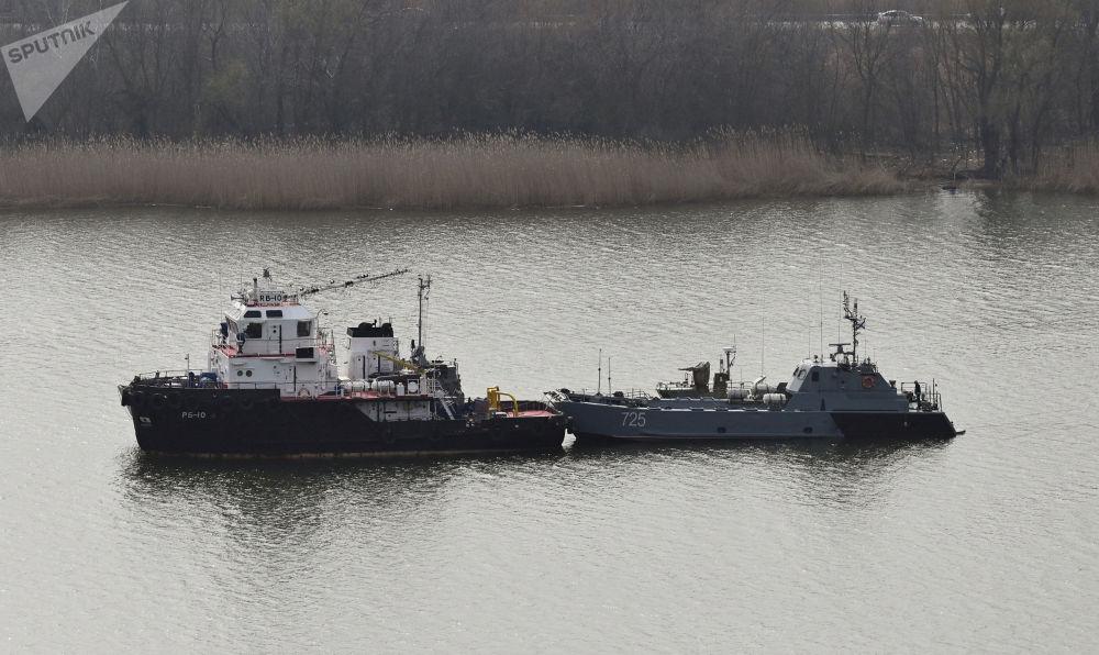 裡海艦隊軍艦通過裡海進入黑海。