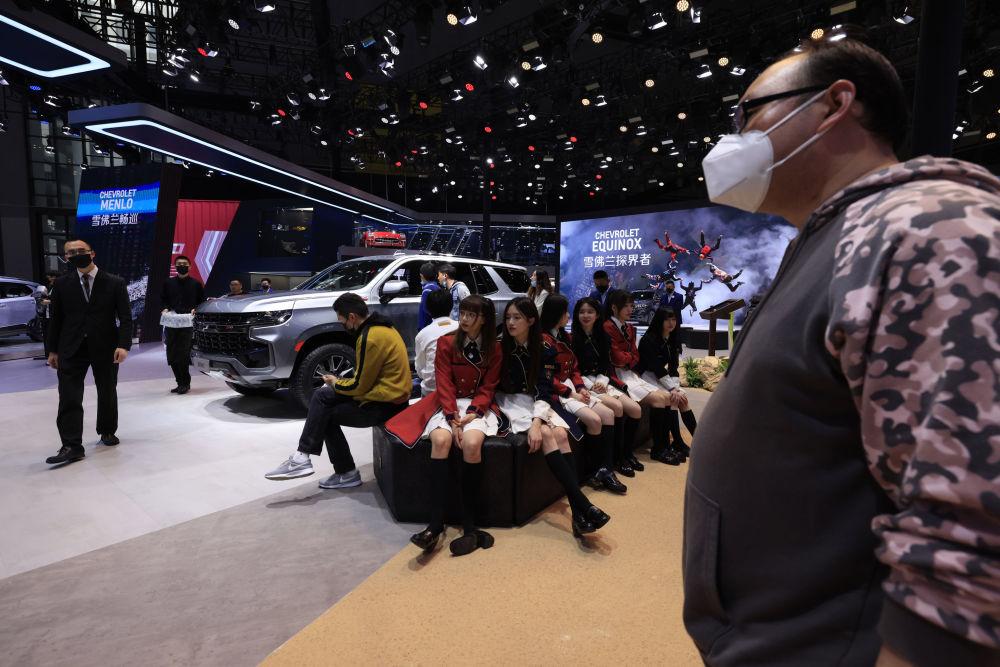 第19屆上海國際車展上的雪佛蘭展台。