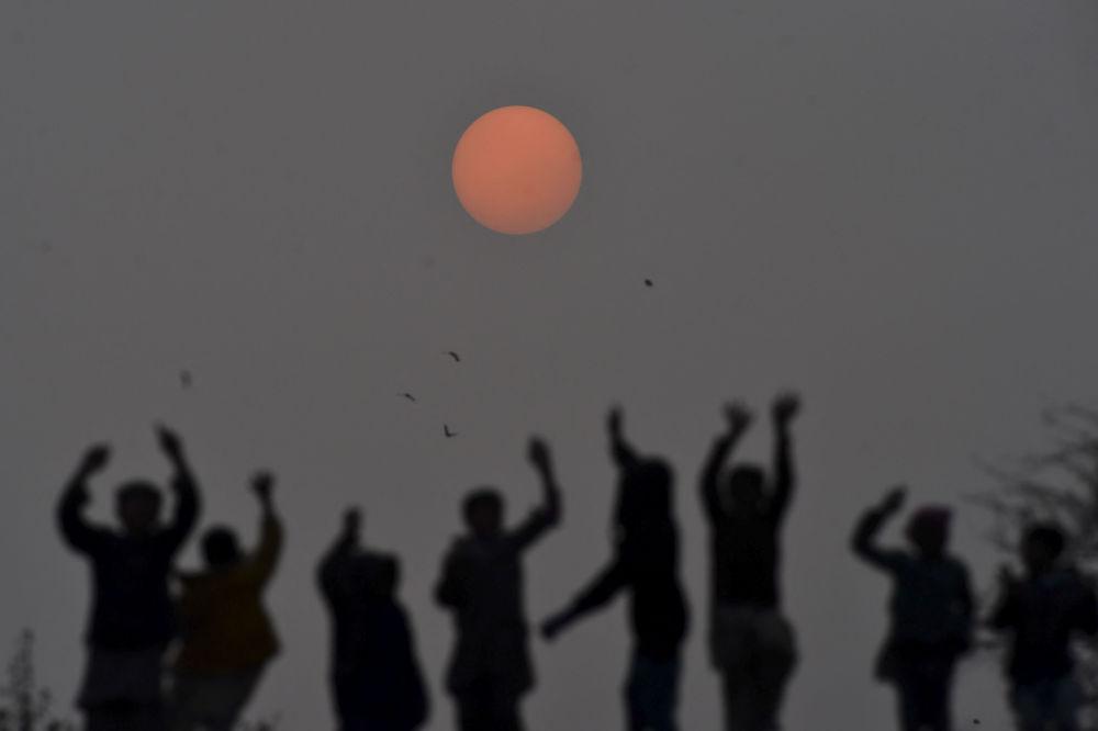巴基斯坦拉合爾2019年最後一日夕陽。