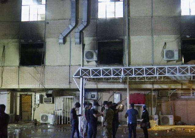 伊拉克內政部:巴格達一家醫院火災中死亡的人數上升至90人