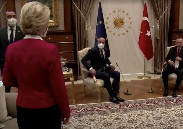 歐盟委員會主席因「沙發門」而感到受辱