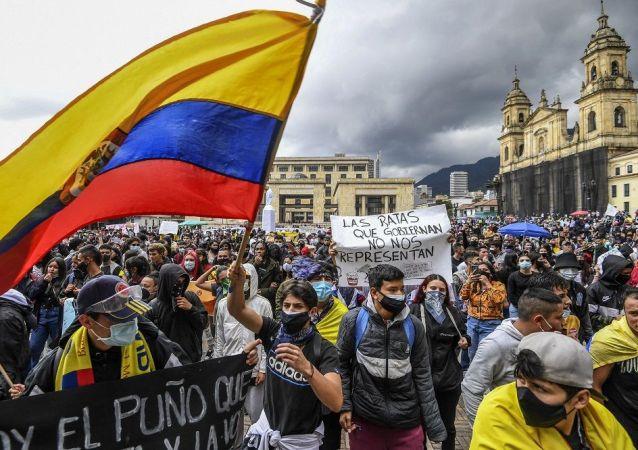 人權組織:哥倫比亞逾370人在抗議活動期間失蹤