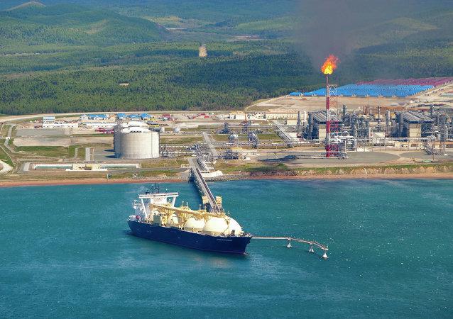 薩哈林的液化天然氣工廠
