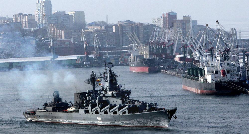 俄中「海上合作-2015」演習第二階段在遠東開始